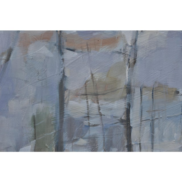 """2010s Stephen Remick """"Winter Woods"""" Painting For Sale - Image 5 of 8"""