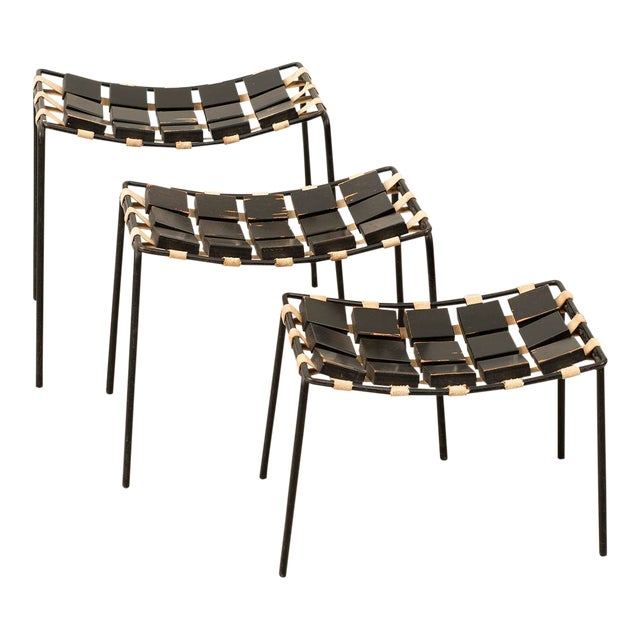 Extremely Rare Set of Three Stacking Stools Designed by Maxwell Yellen, Yellen Interiors, New York.. For Sale