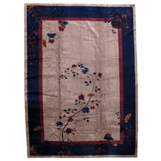 1920s Antique Art Deco Chinese Rug - 11′4″ × 15′9″ For Sale