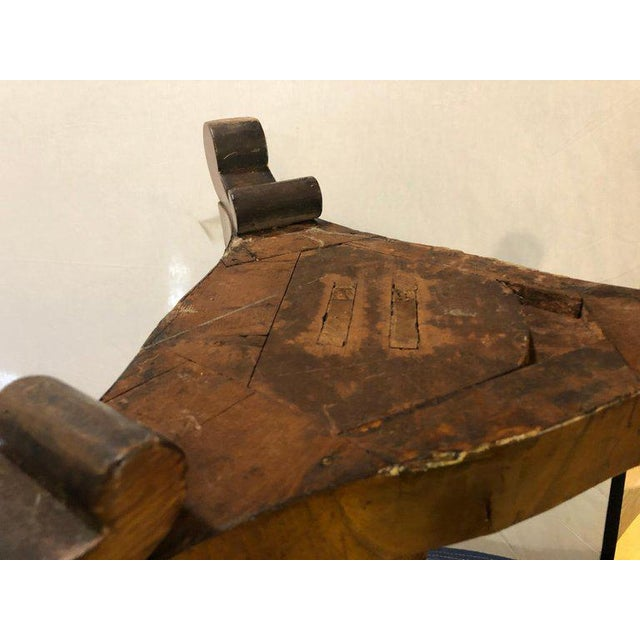 Brown A 19th Century English Tilt Top Game Checkerboard or Card Table For Sale - Image 8 of 11