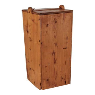 Large Swedish Folk Art Pine Storage Box, 19th Century