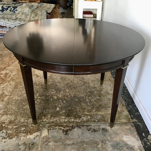 20th Century Neoclassical Round Mahogany Dining Table For Sale - Image 4 of 7