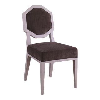 Mary McDonald for Chaddock Chantal Side Chair Brown & Ivory For Sale