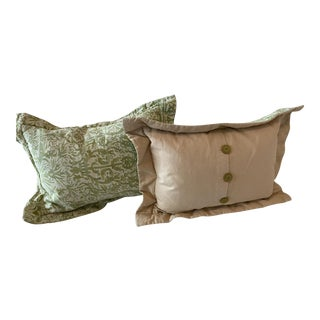 Fortuny Style Pillows - a Pair For Sale