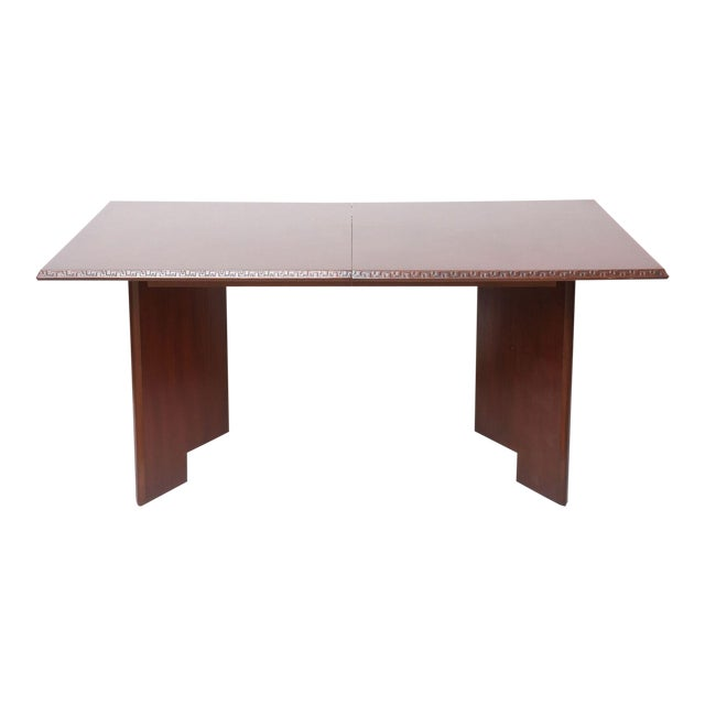 Frank Lloyd Wright Mahogany Extension Dining Table For Sale