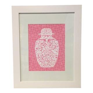 Framed Pink Ginger Jar Print For Sale
