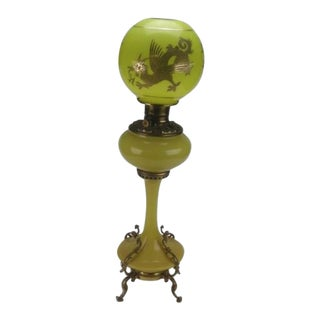 Vintage used victorian table lamps chairish antique dragon banquet oil lamp aloadofball Image collections