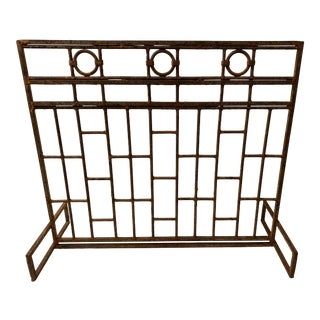 Mid 20th Century Cast Iron Fireplace Screen For Sale