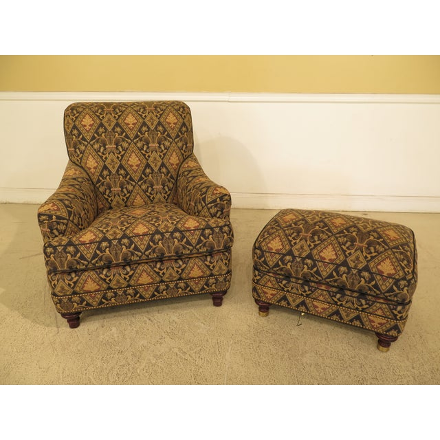 Traditional Hancock & Moore Tarleton Upholstered Chair & Ottoman - a Pair For Sale - Image 3 of 13