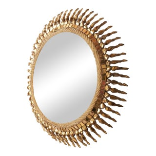 """Large """"Twisted Sun"""" Mirror by Line Vautrin, 1955-1965 For Sale"""