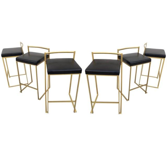 Six Minimalist Modern Bar Stools by Enzo Berti For Sale - Image 9 of 9