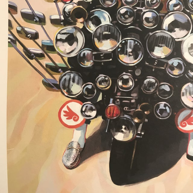 Framed Gucci Abstract Motorcycle Shoes & Rockstar Guitar Fashion Self Portrait Art - a Pair For Sale In Miami - Image 6 of 11