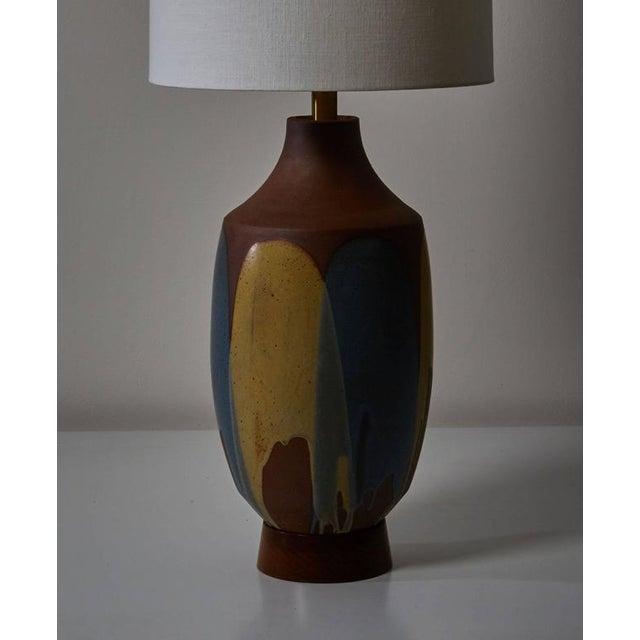 Ceramic Drip Glaze Table Lamp by David Cressey - Image 5 of 6