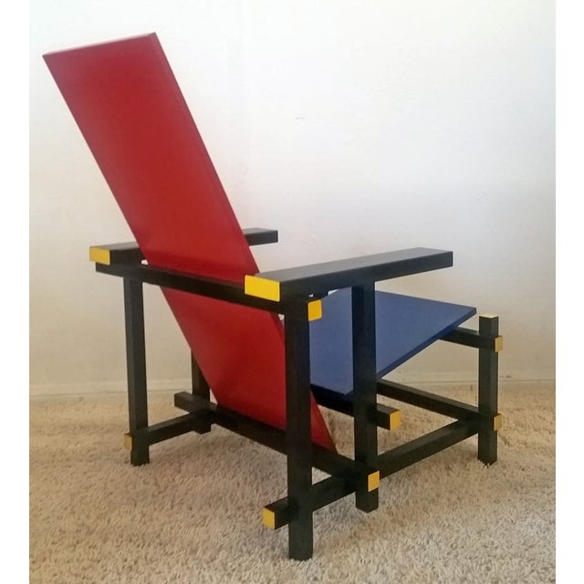 Red & Blue Chair After Gerrit Rietveld - Image 4 of 5