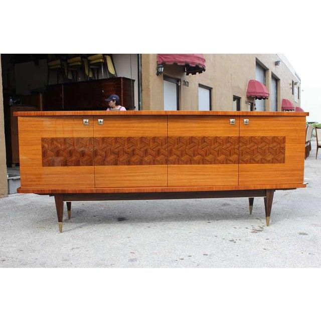 French Art Deco Light Macassar Ebony Sideboard / Buffet Circa 1940s - Image 2 of 10