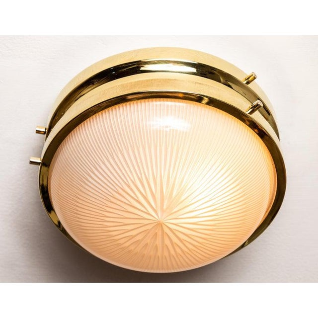 Mid-Century Modern 1960s Sergio Mazza Brass 'Sigma' Wall or Ceiling Light for Artemide For Sale - Image 3 of 13