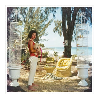 """Slim Aarons, """"Gloria Schiff,"""" January 1, 1963 Getty Images Gallery Framed Art Print For Sale"""