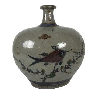1970's Vintage Ovid Japanese Mashiko Pottery Vase For Sale