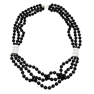 Multi-Bead Couture Necklace by Kenneth Jay Lane For Sale