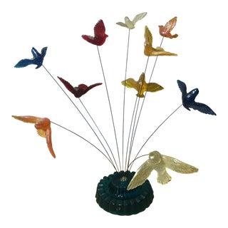1969 Vintage Original New Designs Lucite Kinetic Atomic Bird Sculpture For Sale