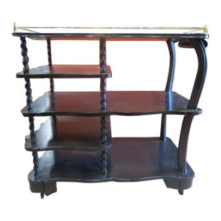 Mid Century Modern 5 Tier Bar Cart C. 1960 For Sale