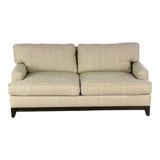 Ethan Allen Beige Upholstered Sofa For Sale