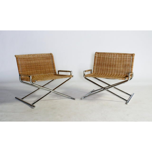 Mid-Century Modern Ward Bennett Brickel Sled Chairs For Sale - Image 3 of 11