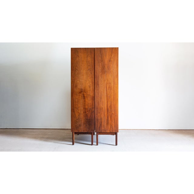 1960s 1960s Mid Century Modern Jack Cartwright for Founders Walnut Armoire Dressers - a Pair For Sale - Image 5 of 10