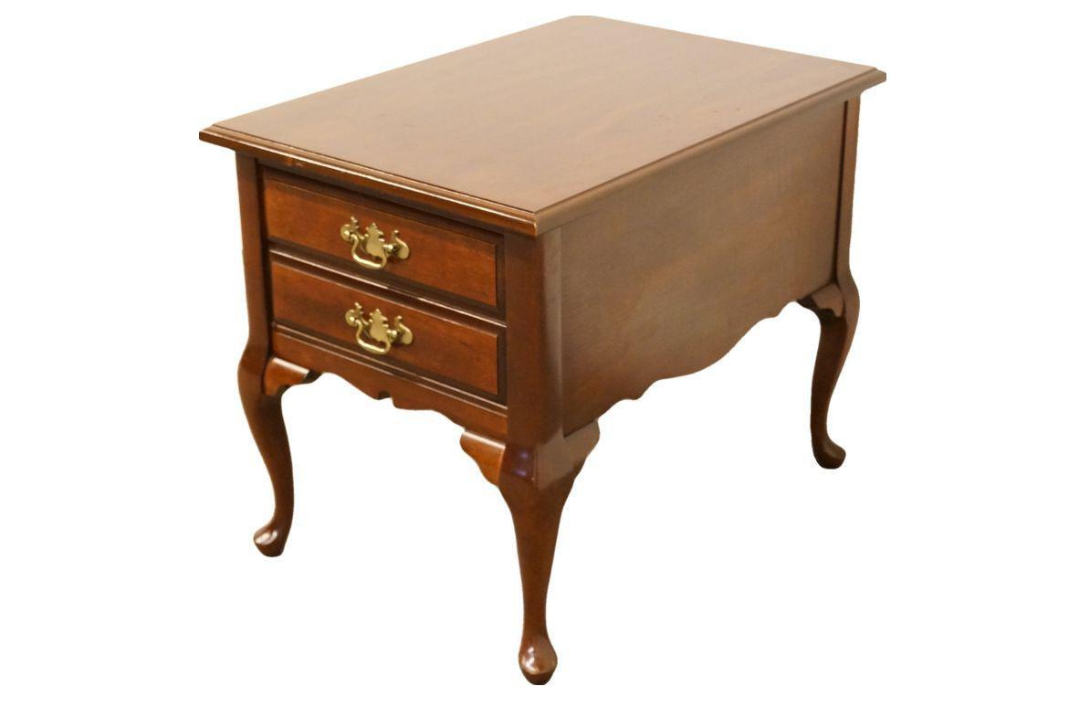Late 20th Century Bassett Furniture Solid Cherry Nightstand