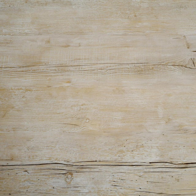 Rustic White Wash Dining Table For Sale - Image 4 of 6