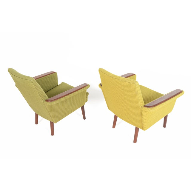 Danish Modern Teak Pawed Lounge Chairs - A Pair - Image 6 of 10