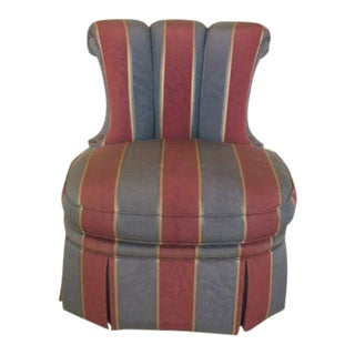 1990s Vintage Century Striped Upholstered Occasional Chair For Sale