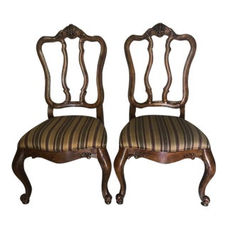 Ethan Allen Tuscany Augustine Dining Room Side Chairs - a Pair For Sale