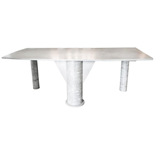 Concrete Desk, Italy, 1980s For Sale - Image 10 of 10