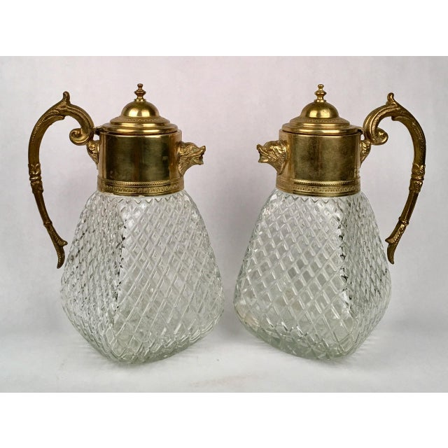 Brass & Crystal Pitcher - Image 2 of 5