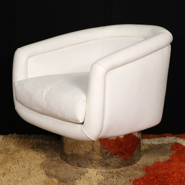 Mid-Century Modern Leon Rosen for Pace Collection Swivel Lounge Chair For Sale - Image 3 of 10