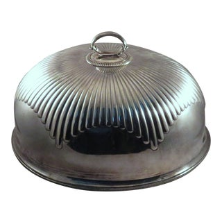 19th Century American Classical Mappin & Webb Silver Prince's Plate Meat Dome For Sale