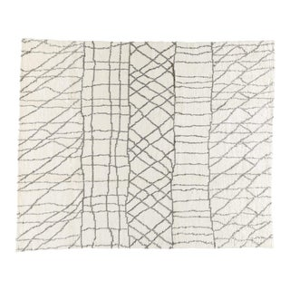 Sketch White Grey, 8 x 10 Rug For Sale