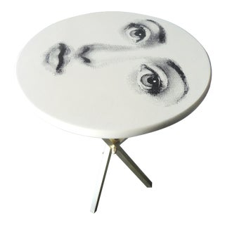 1960s Mid-Century Modern Piero Fornasetti Iconic Face Occasional Table For Sale