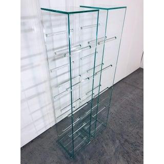 Contemporary Fontana Arte Style Glass Pedestal Tables -A Pair Preview