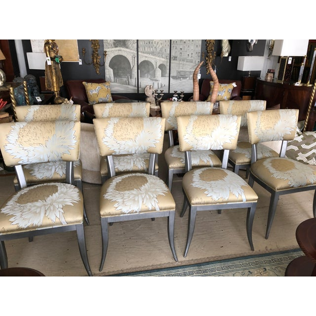 2000 - 2009 Custom Klismos Dining Chairs - Set of 8 For Sale - Image 5 of 12