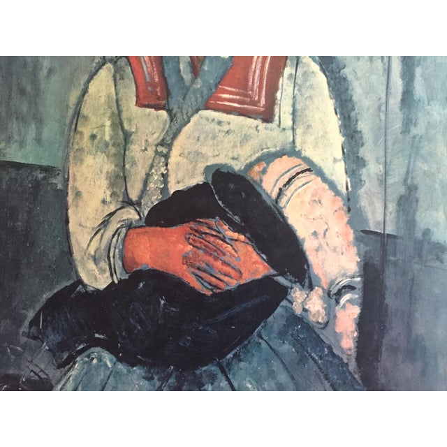 """Late 20th Century Amadeo Modigliani Rare Vintage Mid Century Large Lithograph Print """" Gypsy Woman With a Baby """" 1919 For Sale - Image 5 of 10"""