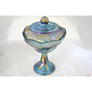 Peacock Blue Pedestal Bowl Preview