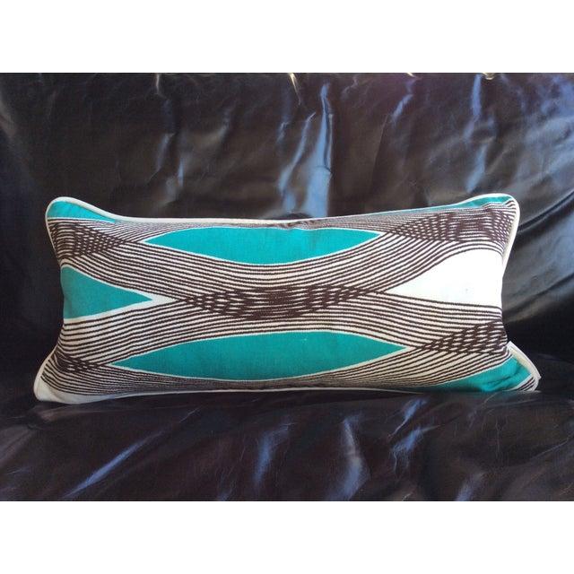 Mid-Century Modern Waves Lumbar Throw Pillow - Image 2 of 7