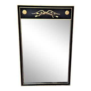 Vintage Federal-Style Black and Gold Mirror For Sale