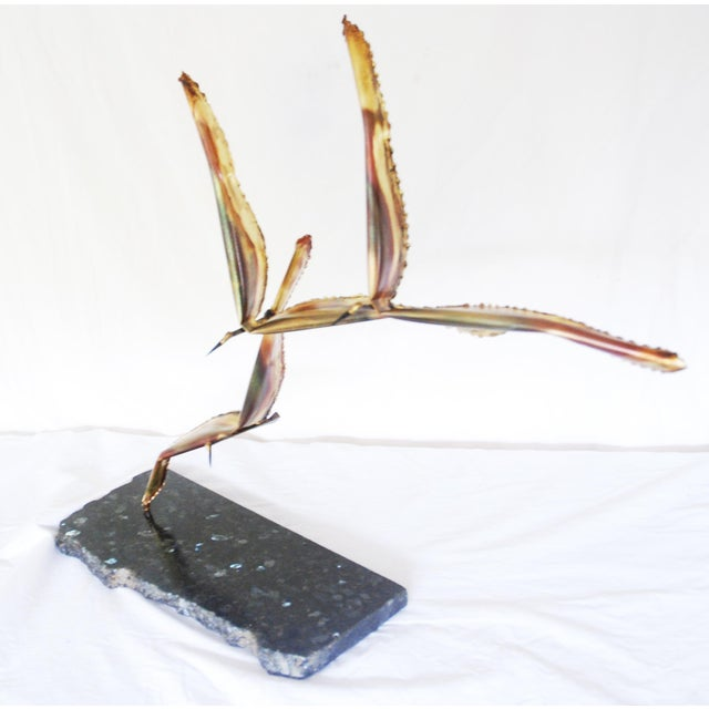 Vintage Metal Seagulls in Flight Table Sculpture For Sale In Portland, OR - Image 6 of 6