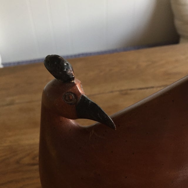 Vintage Mid-Century Wood Rooster Sculpture - Image 4 of 10