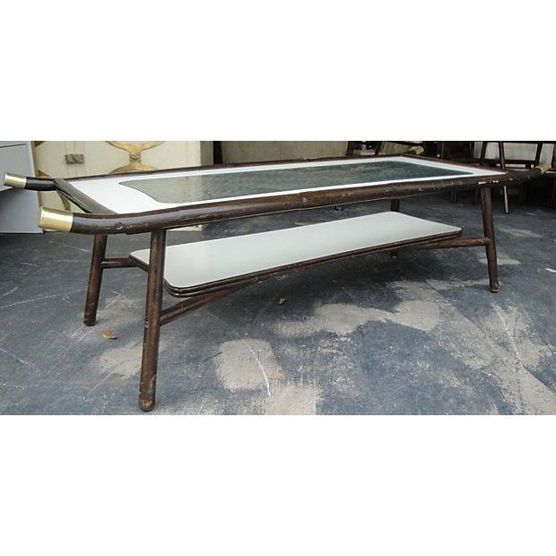 1960s Chinoiserie Mica Coffee Table For Sale - Image 5 of 7