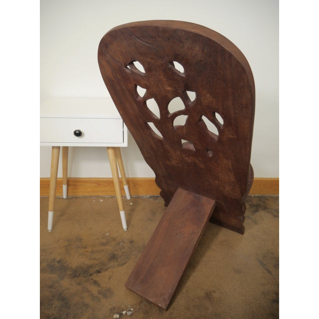 African 20th Century African Mahogany Bantu Carved Tribal Chief Chairs - a Pair For Sale - Image 3 of 10