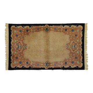 Antique Chinese Art Deco Rug With Chinoiserie Style - 03'00 X 04'10 For Sale